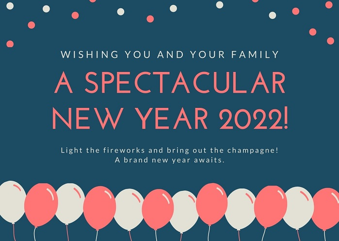 Beautiful New Year 2022 Wallpapers, Pictures & Images