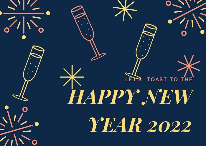 Happy New Year 2022 Background Images for Desktop