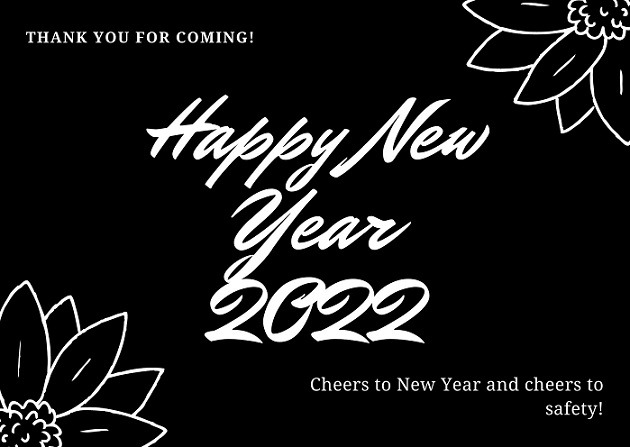 Happy New Year 2022 Eve Greeting Cards For Facebook