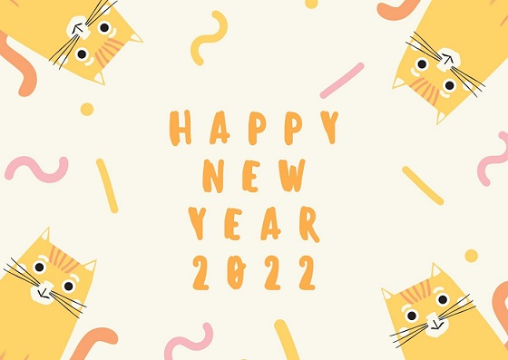 Happy New Year 2022 Eve Greeting Cards For Family & Friends