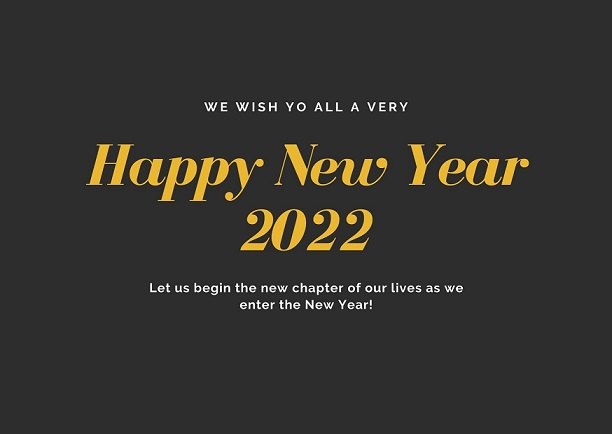 Happy New Year 2022 Eve Greeting Cards For Family