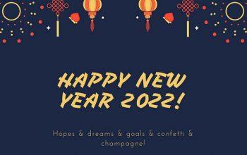 2022 Happy New Year Wallpaper