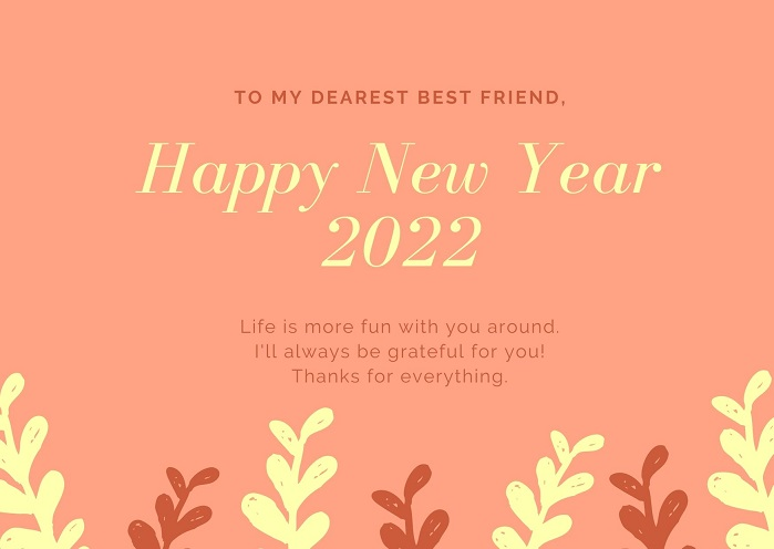 Happy New Year 2022 Messages Images for Friends