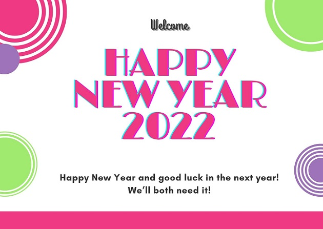 Happy New Year Eve Greetings Card 2022
