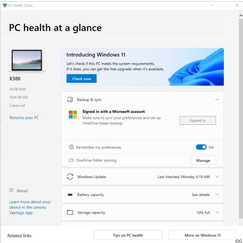 How to check if your PC can run Windows 11