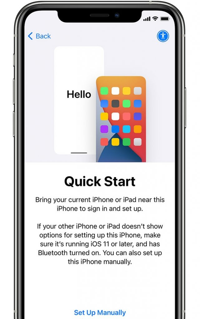 how to set up new iphone