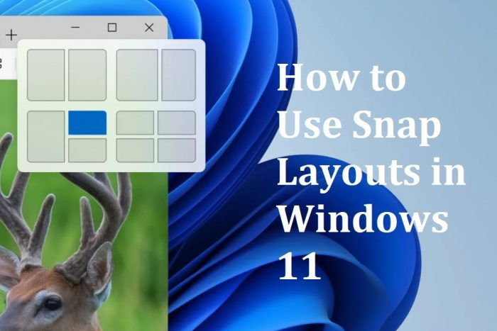 How to Use Snap Layouts in Windows 11